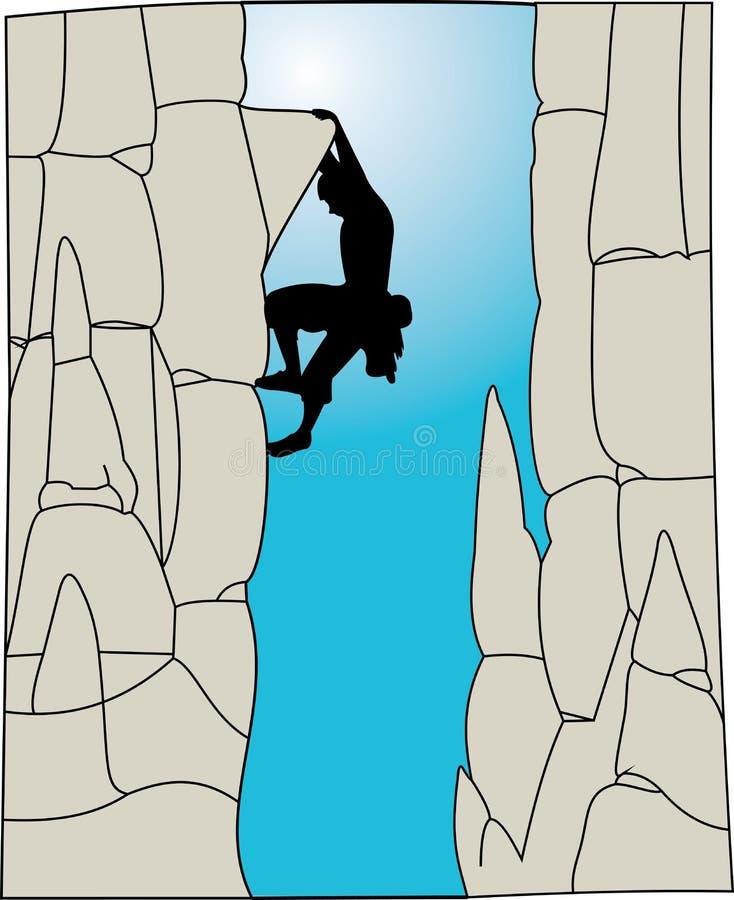 Escalador libre illustration
