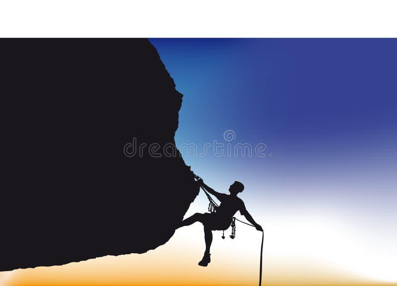 Escalador de montaña ilustración del vector
