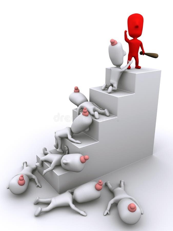 Escalando a escada corporativa ilustração do vetor