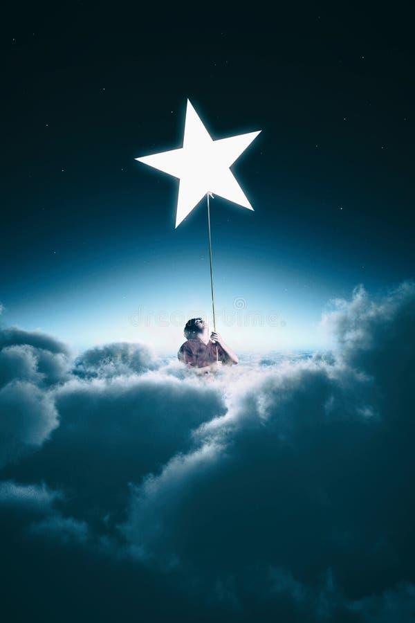 Escalando a estrela fotografia de stock royalty free