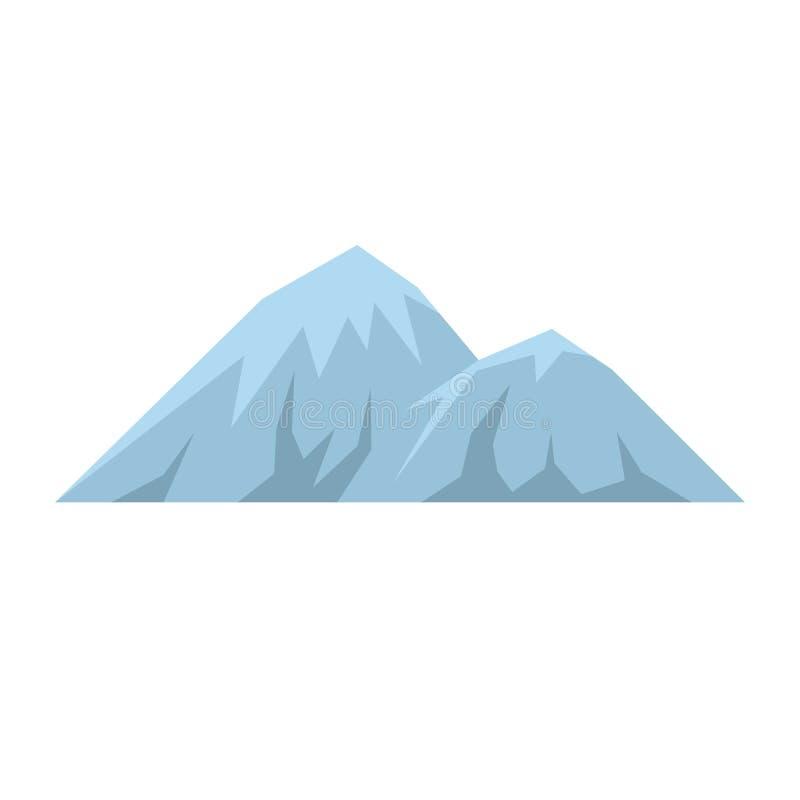 Escalando no ícone da montanha, estilo liso ilustração do vetor