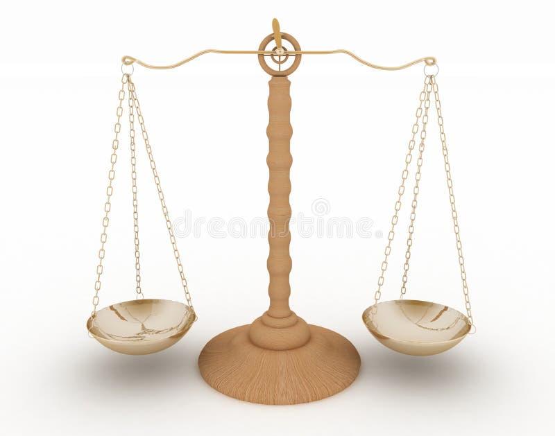 Escalas clásicas de la justicia libre illustration