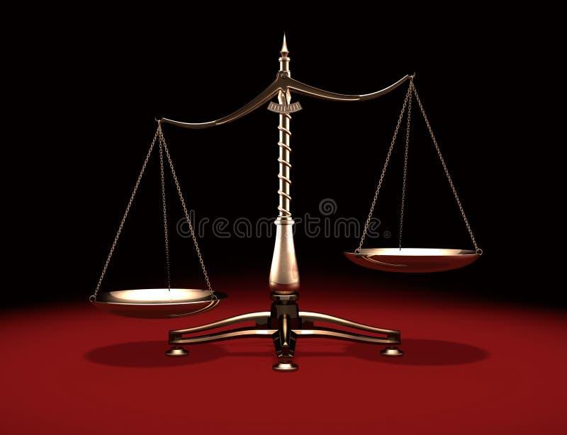 Escalas de bronze do peso ilustração do vetor