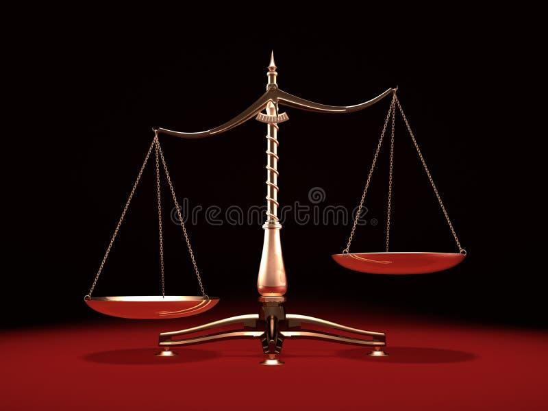 Escalas de bronze do peso ilustração royalty free