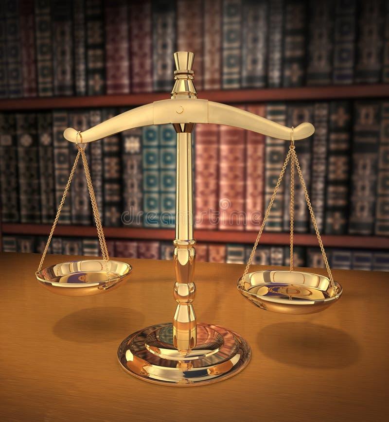 Escalas de justiça ilustração stock