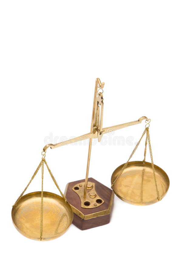 Escalas de justiça imagens de stock