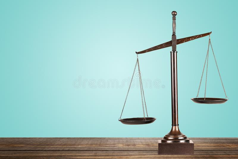 Escalas de justiça fotografia de stock