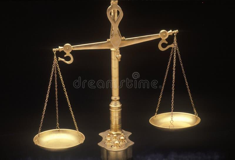 Escalas de justiça, representando os sistemas legais e as cortes do Estados Unidos imagem de stock royalty free