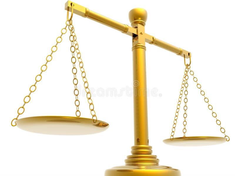 Escalas de justiças ilustração royalty free