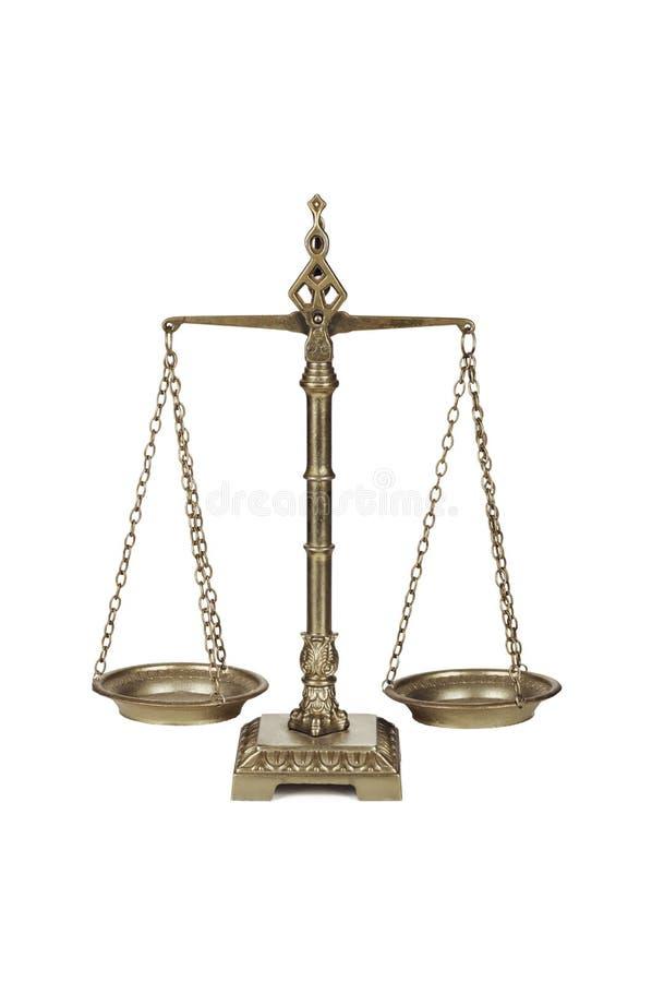 Escalas de la balanza. foto de archivo