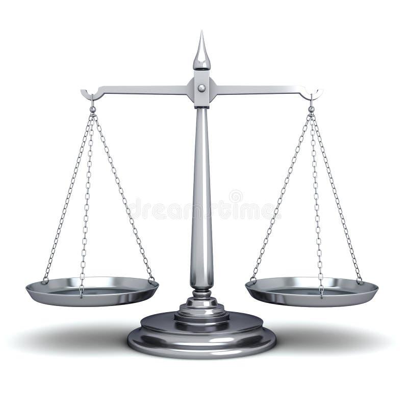 Escalas de la justicia libre illustration