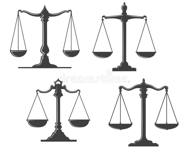 Escalas de la justicia del vintage libre illustration