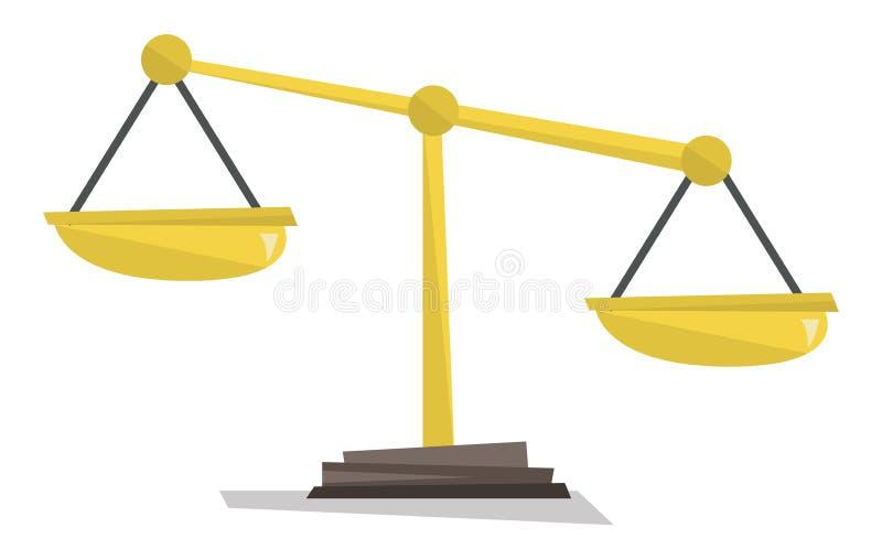 Escalas del oro del ejemplo del vector de la justicia libre illustration