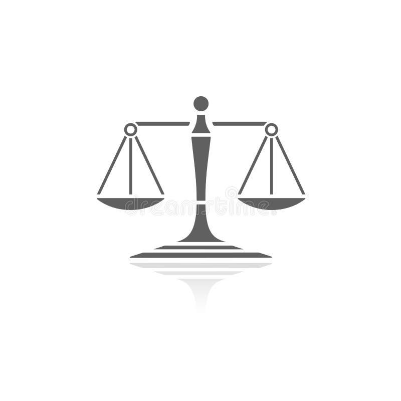 Escalas do ícone de justiça ilustração stock