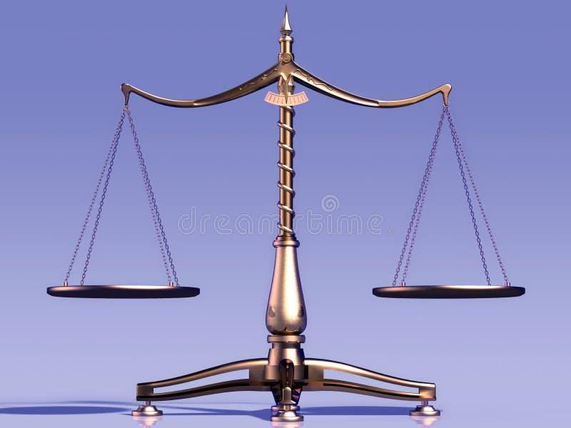 Escalas do peso ilustração do vetor
