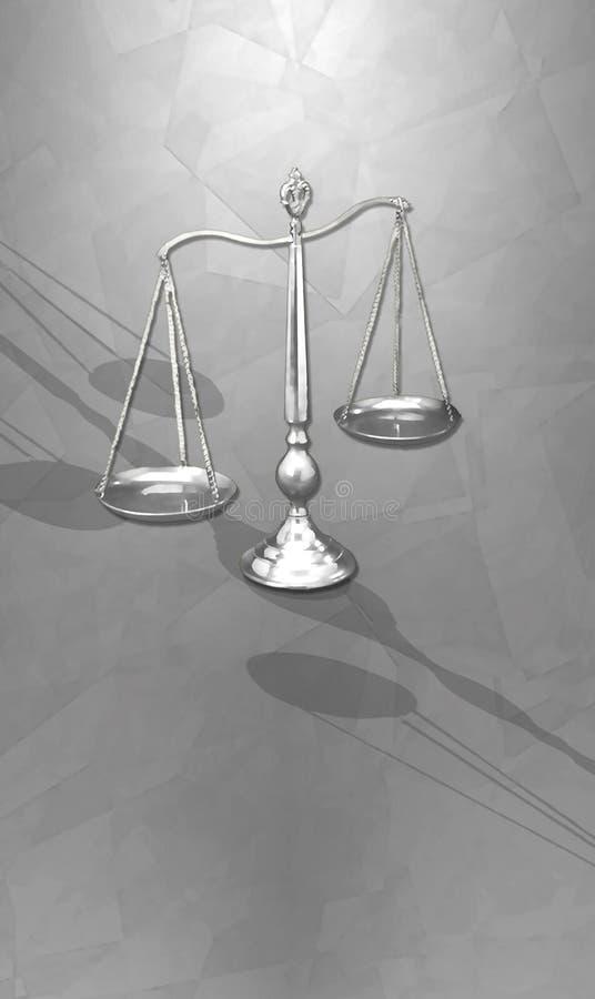 Escalas estilizados de justiça ilustração do vetor
