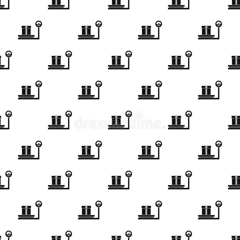 Escalas para pesar com teste padrão da caixa, estilo simples ilustração royalty free