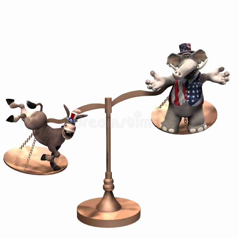 Escalas políticas - Democrat ilustración del vector