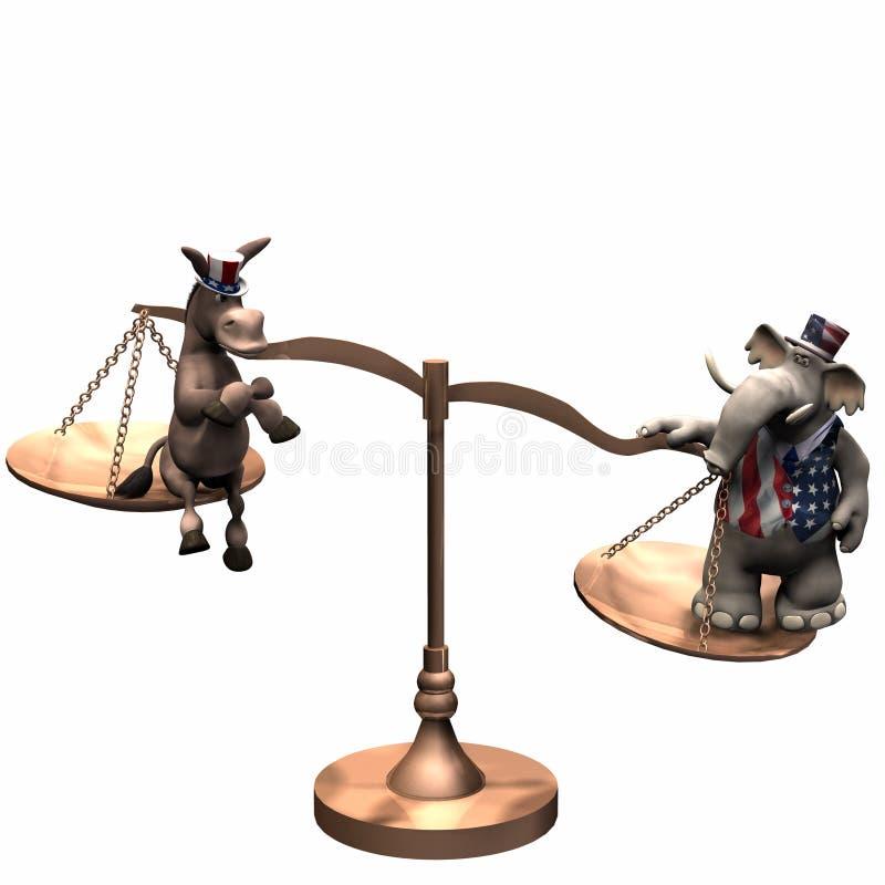 Escalas políticas - republicano ilustración del vector