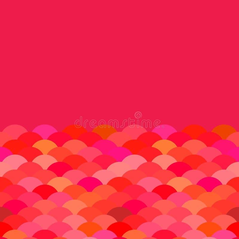 Escalas, projeto da bandeira do cartão da onda para o fundo simples da natureza do sumário do texto com teste padrão vermelho jap ilustração royalty free