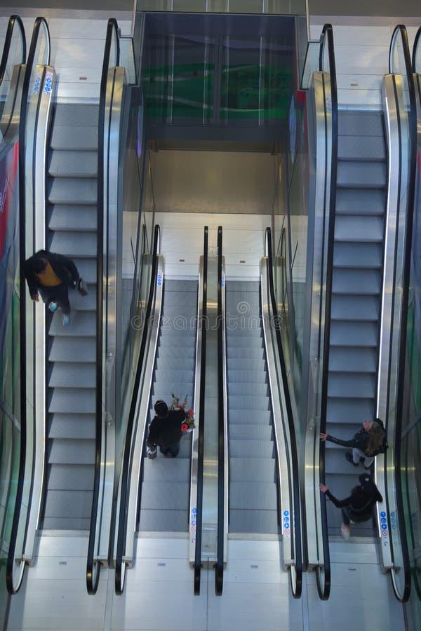 Escalator photographie stock libre de droits
