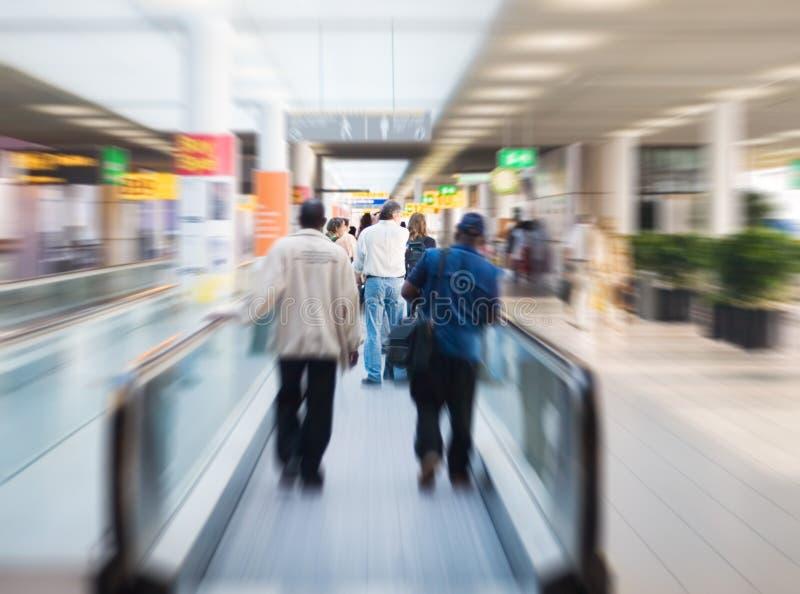 On escalator royalty free stock image