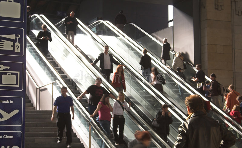 Download Escalator Stock Photography - Image: 1458792