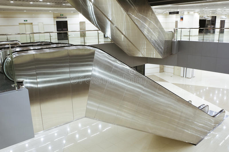 Download Escalator stock image. Image of steel, space, ground - 15410511