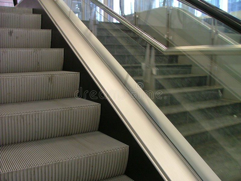 Download Escalator stock photo. Image of automatic, glass, commute - 164152
