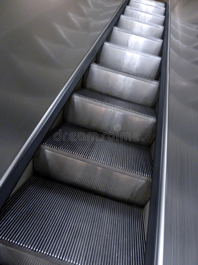 Download Escalator stock image. Image of abstract, metal, object - 20619089