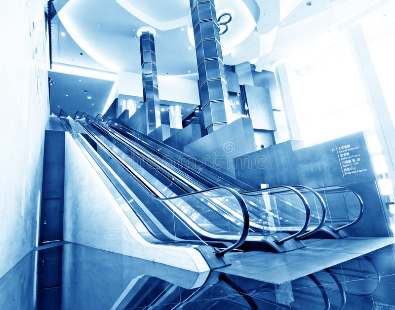 Download Escalator stock photo. Image of blue, stair, terminal - 20746056