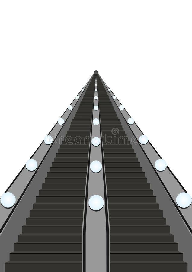 Download Escalator stock vector. Image of automatic, height, technology - 24348906