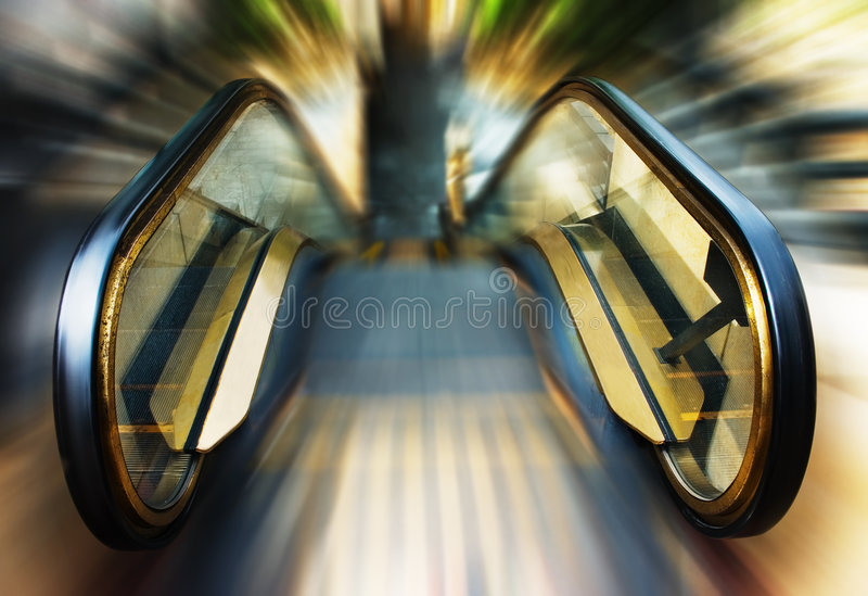 Escalator stock image