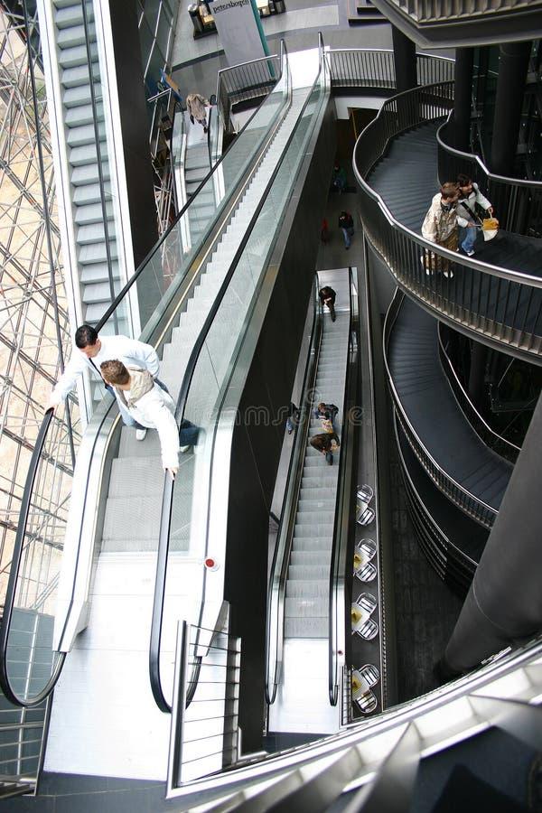 Escalator. In a mall royalty free stock photos