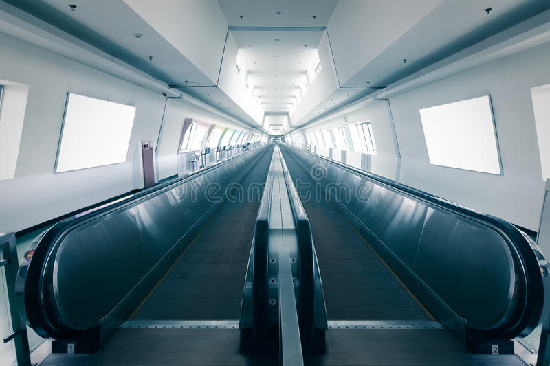 Download Escalator in airport stock image. Image of inside, business - 27075379