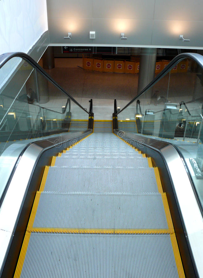 Download Escalator in airport stock photo. Image of interior, stairs - 9835324