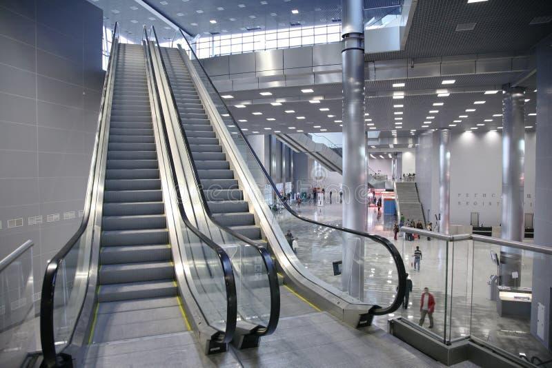 Escalator In The Business Center Stock Photo