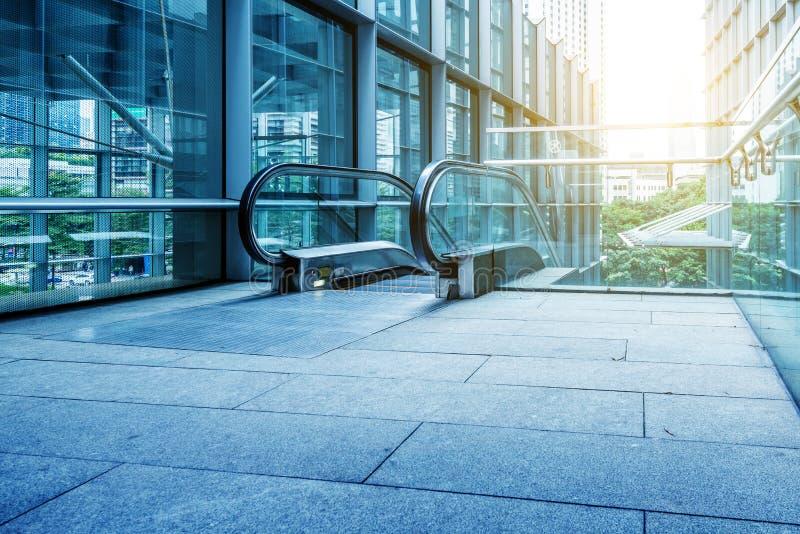 Escalator d'allée de rue images libres de droits
