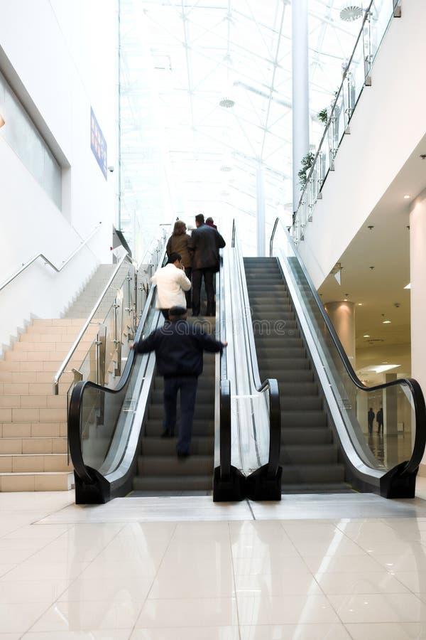 escalator de foule photo libre de droits