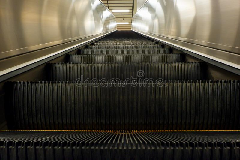Escalator going up stock image