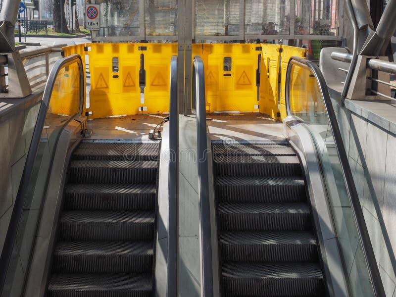 Escalator hors service image libre de droits