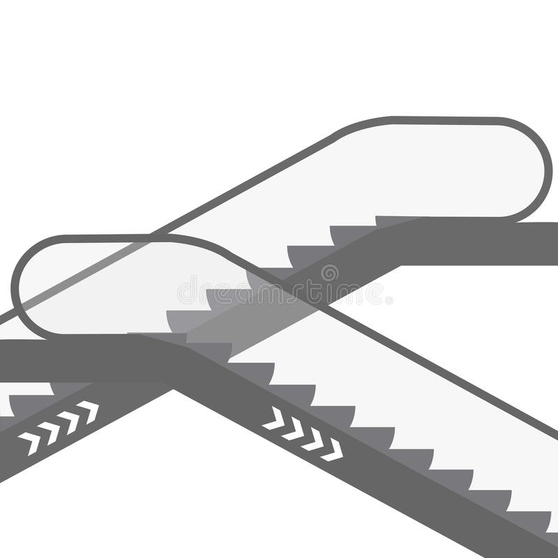 Free Escalator  Icon. Simple Vector Illustration Of Escalator Stock Images - 168828694