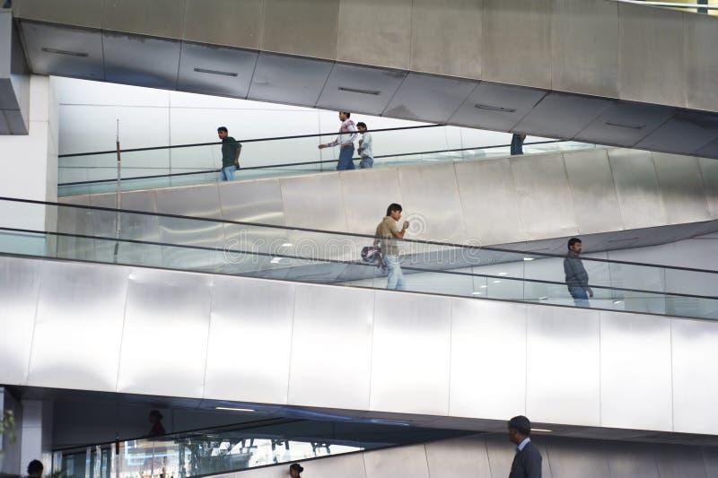 Escalator at Indira Gandhi Intarnational Airport