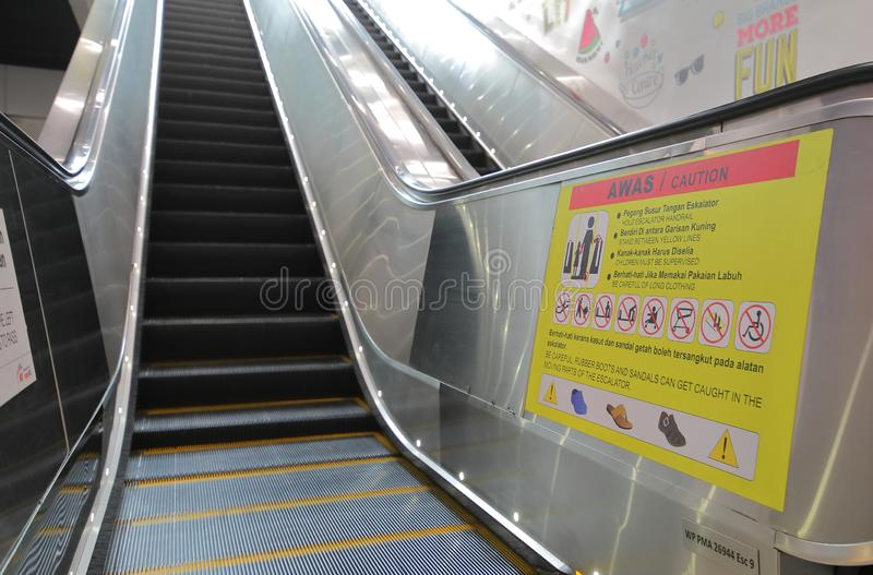 Escalator Kuala Lumpur Malaysia photo stock
