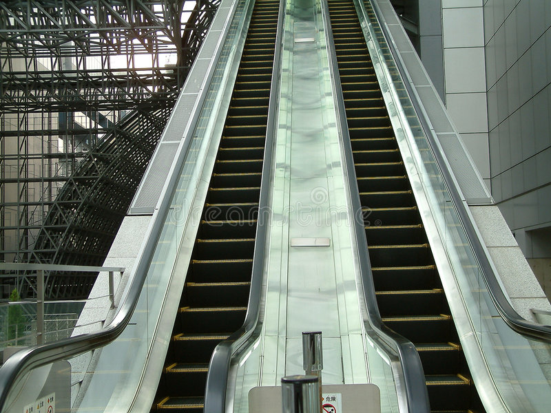 Download Escalator In Kyoto Train Station Stock Image - Image of station, asia: 46447