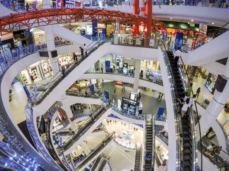 Escalator. Level of modern building escalator at Terminal 21 shopping mall Bangkok Thailand stock photos