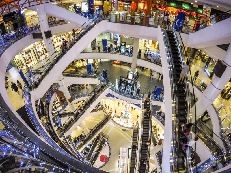 Escalator. Level of modern building escalator at Terminal 21 shopping mall Bangkok Thailand royalty free stock photography