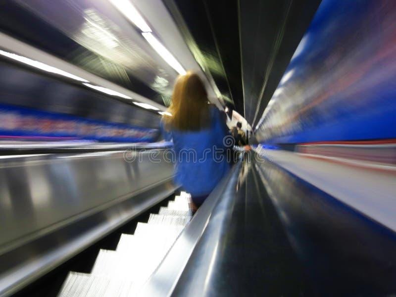 Escalator in the London underground stock photo