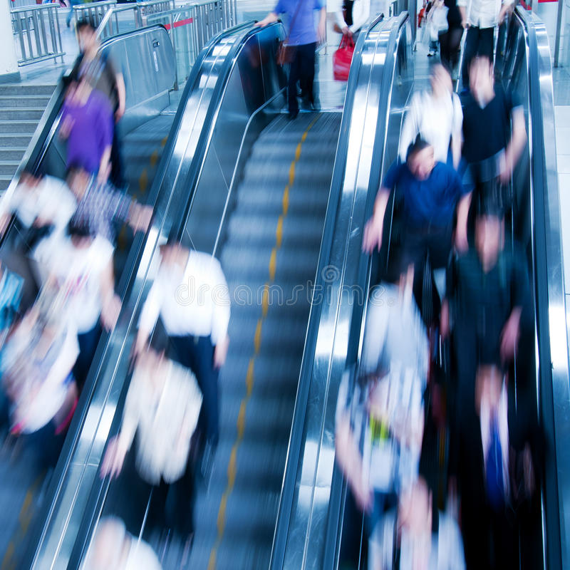 Escalator mobile images stock