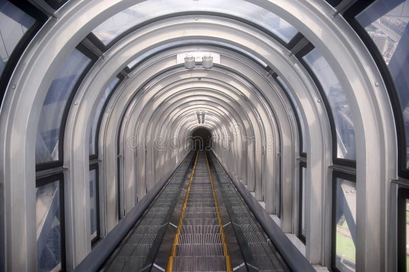 Escalator, Osaka, Japon images libres de droits